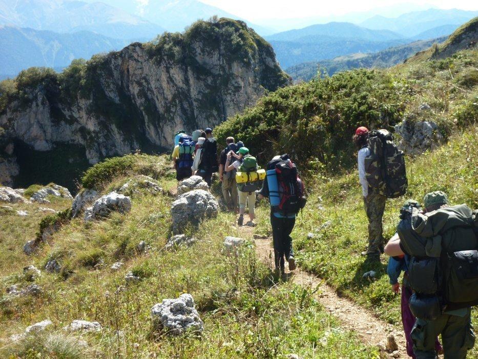 Через горы к морю пешком рюкзак кавказ 30 маршрут св-астур рейдовые тактические рюкзаки